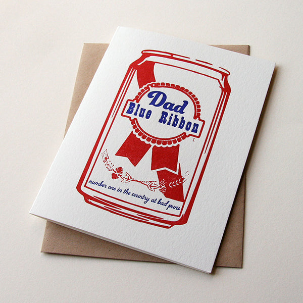 Blue Ribbon Dad | Steel Petal Press