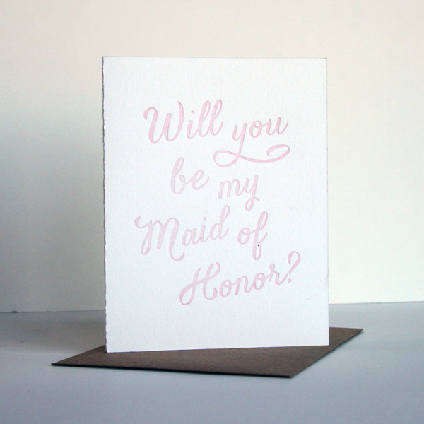 Blush Maid of Honor Card | Steel Petal Press