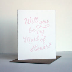 Blush Maid of Honor Card