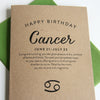 Cancer Astrology Birthday Card