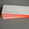 Letterpress Business Cards - Edge Painting
