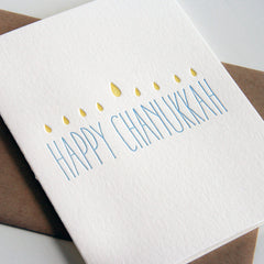 Chanukah Lights Card