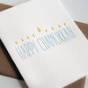 Letterpress Hanukkah Chanukkah Card