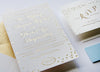 Gold Foil Charlotte Wedding invitations