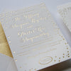 Gold Foil Wedding invitations Chicago