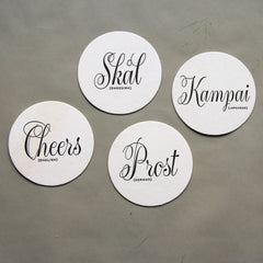 Cheers Language Coasters