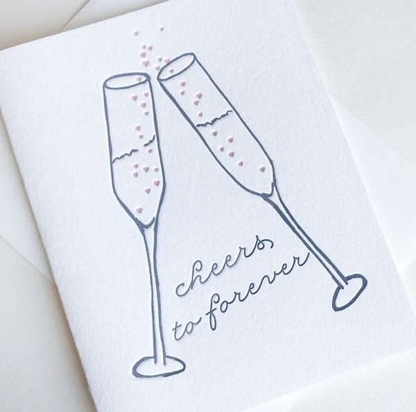Cheers To Forever Card | Steel Petal Press