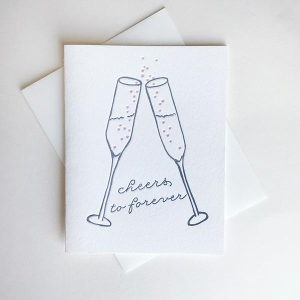 Cheers To Forever Card - Steel Petal Press