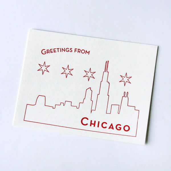 Chicago postcard - boxed set of 10 | Steel Petal Press
