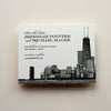 Chicago Skyline Letterpress Save the Date