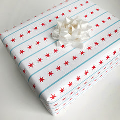 Chicago Flag Gift Wrap