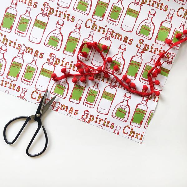 Christmas Spirits Wrap - Steel Petal Press