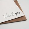 Letterpress Thank You boxed set Corner Thanks