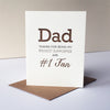 Letterpress Father's day card - Dad Fan