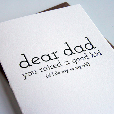 Dad Kid Card - Steel Petal Press