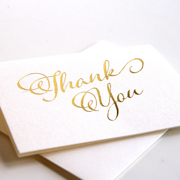Fancy Thanks | Steel Petal Press