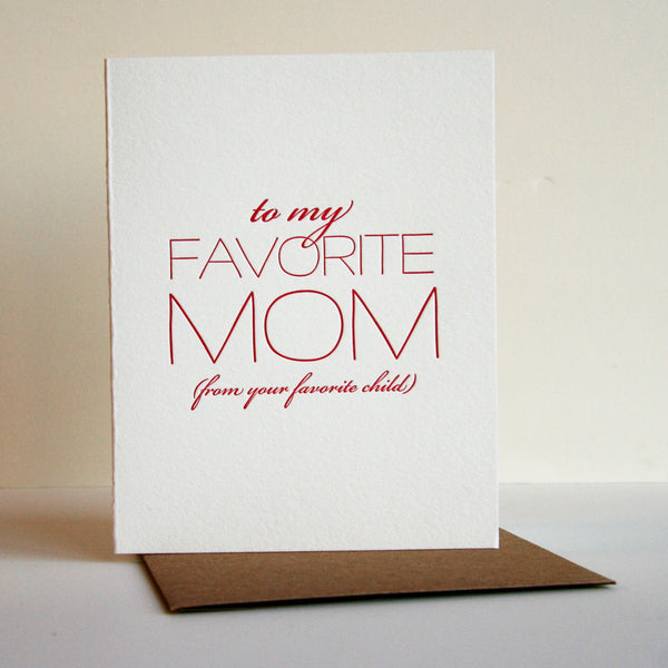 Favorite Mom Card | Steel Petal Press