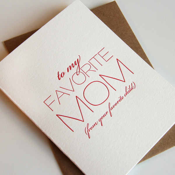 Favorite Mom Card - Steel Petal Press