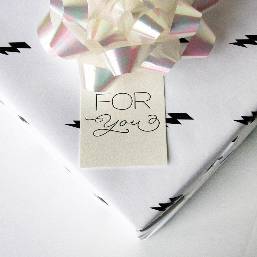 For You - Script - Gift tags - Steel Petal Press