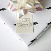 Letterpress gift tags - For You Script