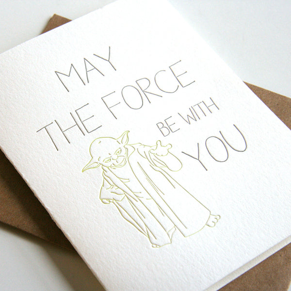 The Force Card | Steel Petal Press