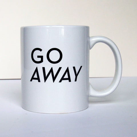 Go Away Mug - Steel Petal Press