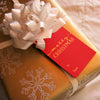 Gold Foil Red Gold Merry Christmas gift tags