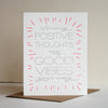 Letterpress Encouragement Card Good Vibes