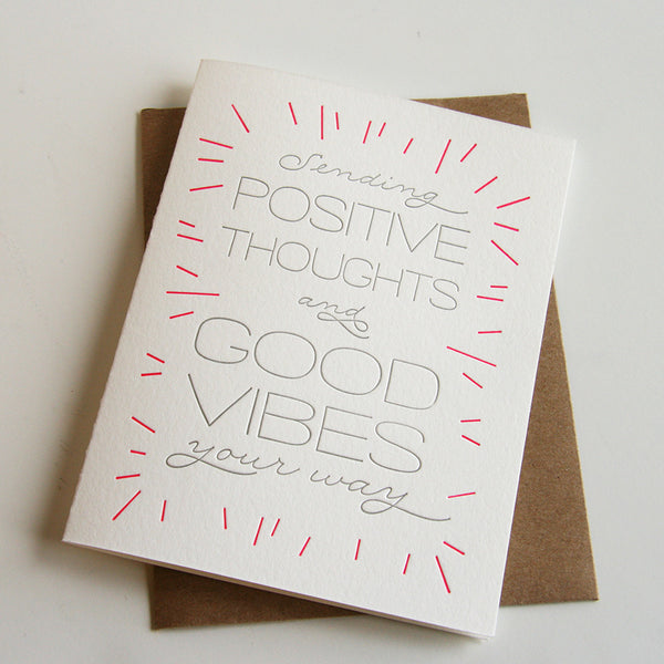 Good Vibes Card - Steel Petal Press