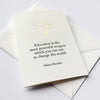 Gold Foil letterpress graduation card Change the World