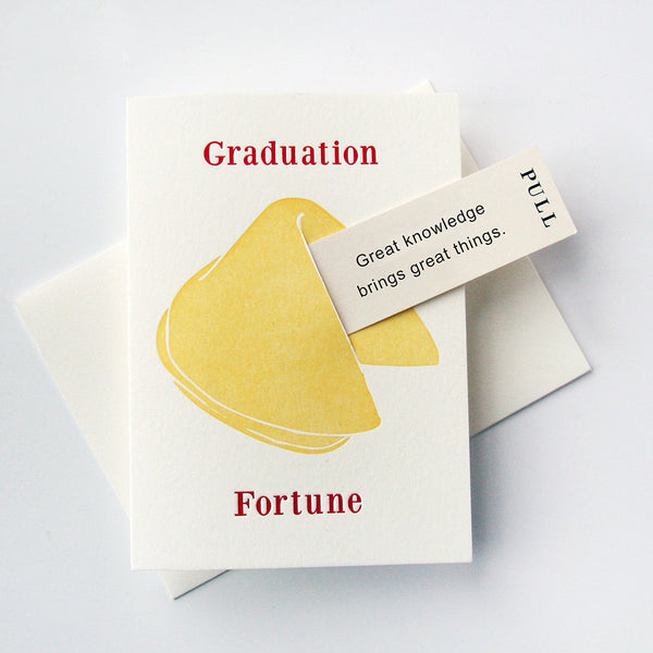 Grad Great Knowledge - Fortune Cookie | Steel Petal Press