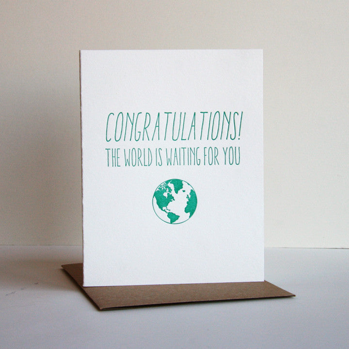 Congrats Grad Card - Steel Petal Press