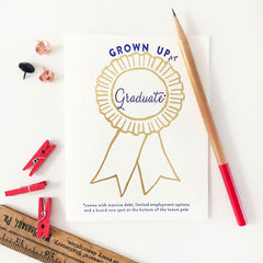 Award Grown Up AF - Graduate - Gold Foil