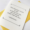 Letterpress Congratulations and Encouragement card - Greatest Glory