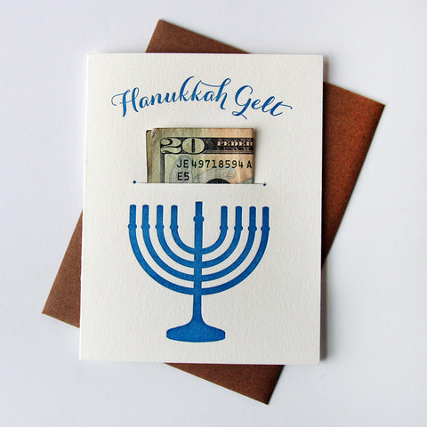 Hannukah Gelt - Money Holder - Steel Petal Press