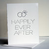 Letterpress Wedding Congratulations Card Happily Ever After