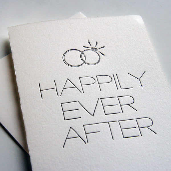 Happily Man and Wife Card | Steel Petal Press