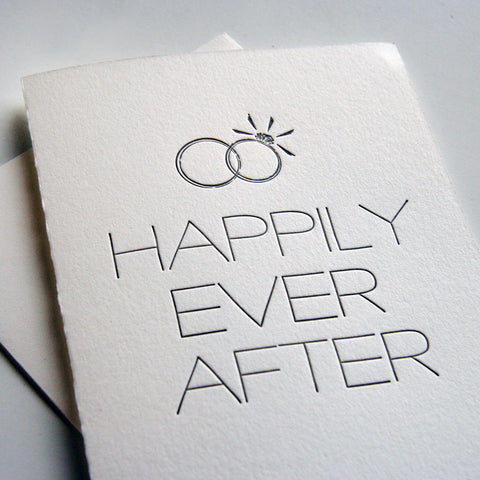Happily Man and Wife Card - Steel Petal Press