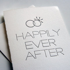 Happily Man and Wife Card