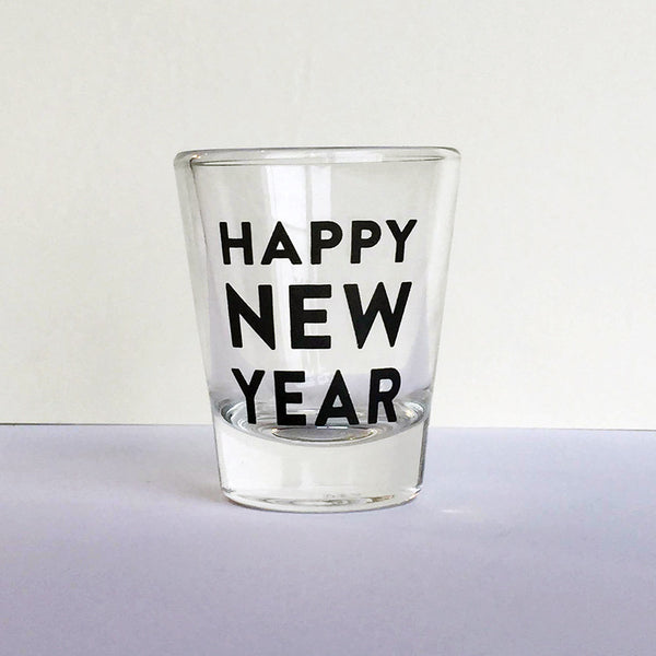Happy New Year Shot Glass | Steel Petal Press