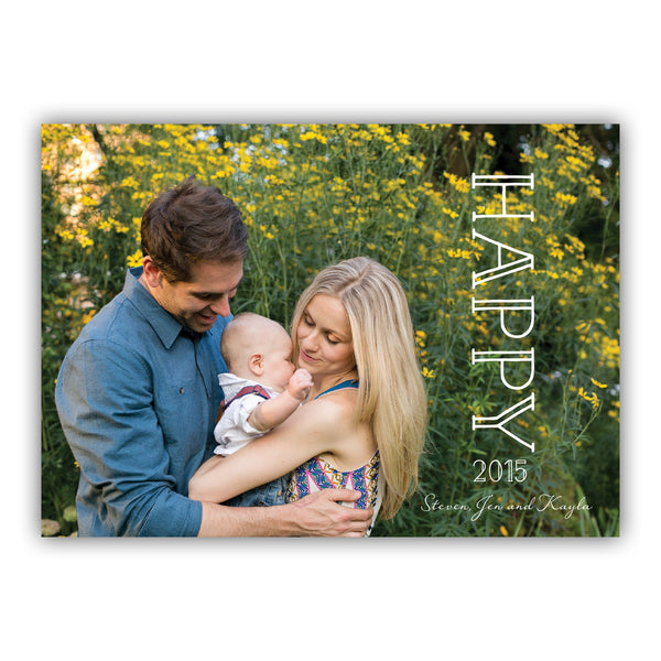 Happy Holiday Photo Card | Steel Petal Press