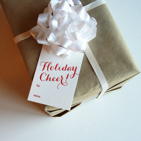Holiday Cheer Gift Tags - Steel Petal Press