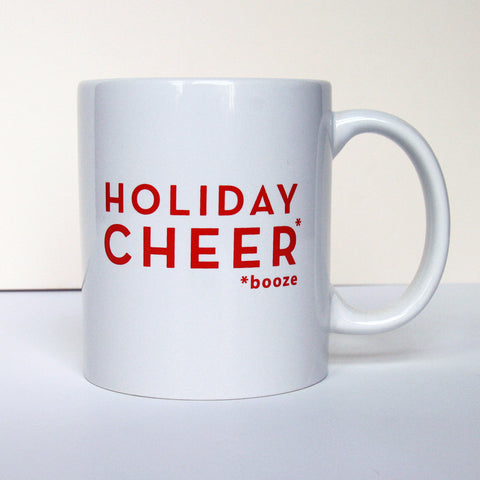 Holiday Cheer - Booze - Mug - Steel Petal Press