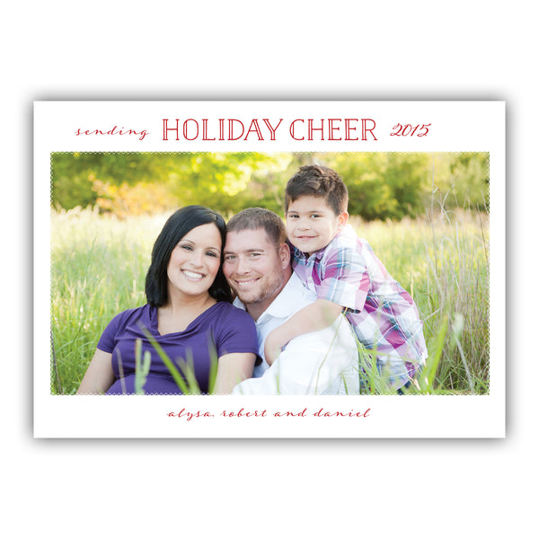 Holiday Cheer Photo Card | Steel Petal Press