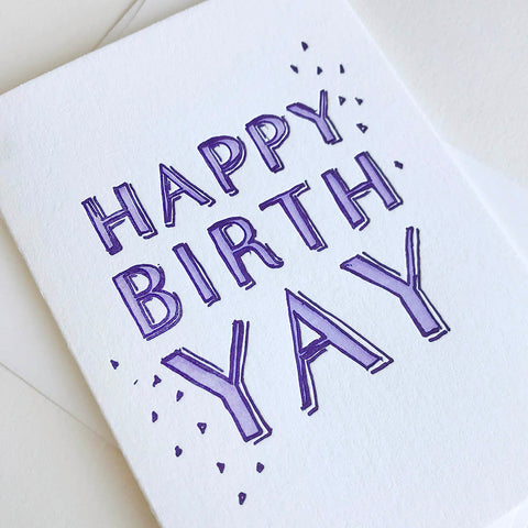 BirthYAY - Illustrated - Steel Petal Press