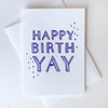 Letterpress birthday card - BirthYay