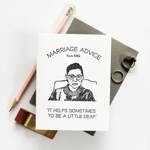 Marriage Advice RBG - Steel Petal Press
