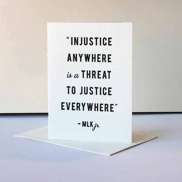 Protest Card - Injustice | Steel Petal Press