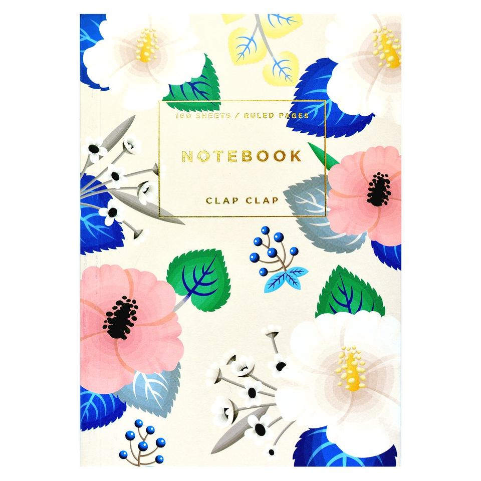 Ivory Hibiscus Notebook - Steel Petal Press
