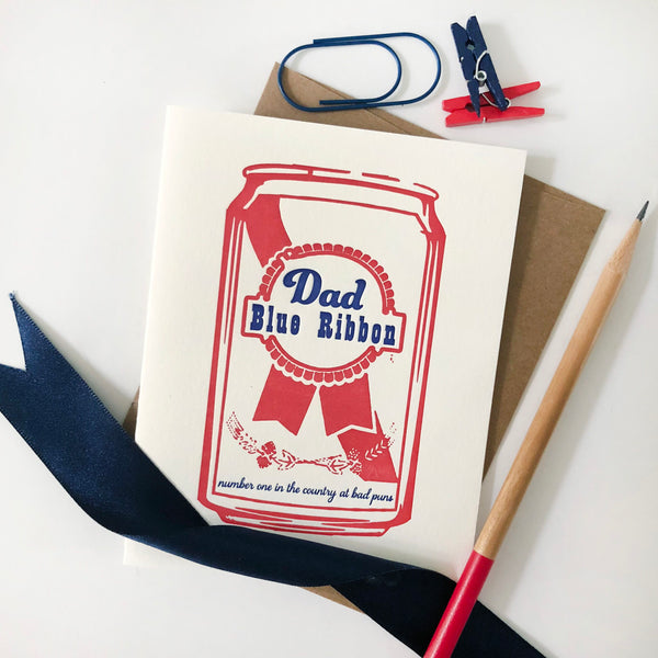 Blue Ribbon Dad - Steel Petal Press